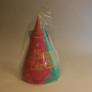 Happy Birthday party hats bright