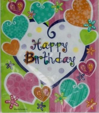 Heart Happy Birthday Napkins