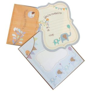 Baby Shower Special Delivery Invitations Blue Elephant