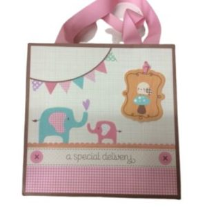 Baby Shower Pink Elephants Gift bag