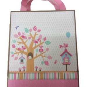 Little People Baby Shower Pink Gift bag Medium