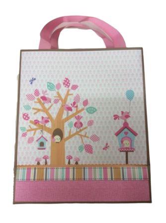 Little People Baby Shower Pink Gift bag Medium