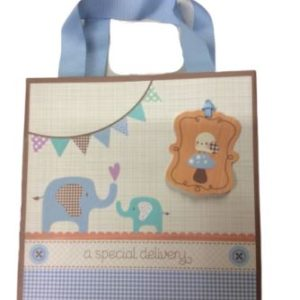 Baby Shower Blue Elephants Gift bag