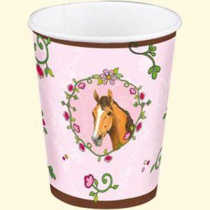 Horse Friends pink paper cups