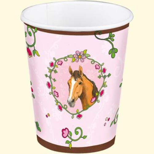 Horse Friends pink paper cups