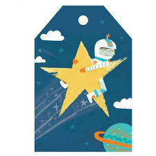 astronaut gift tag