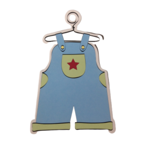 Baby Boy Blue Overalls Gift Tags