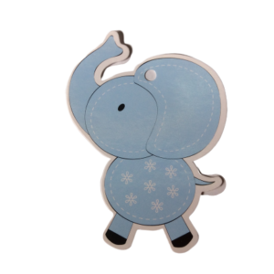 Blue Baby Elephant Gift Tags