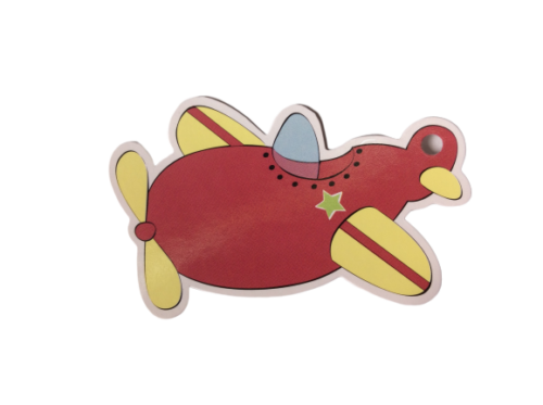 Red Plane Gift Tags