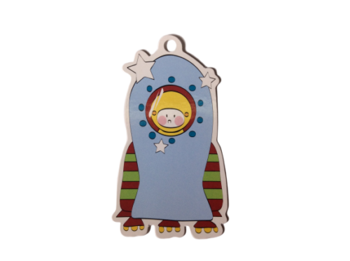 Rocket Spaceman Astronaut Gift Tags