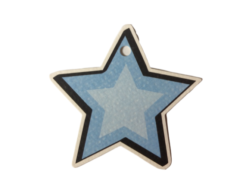 Matte Blue Space Star Gift Tags