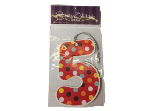 No.5 Spotted Gift Tags