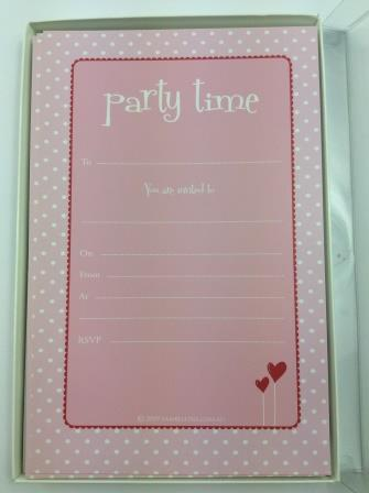 Pink Polka Dot Birthday Occasion 'Party Time' Invitations