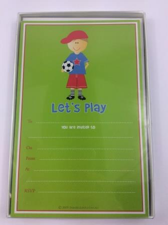 Let's Play Soccer Football Party Invitations