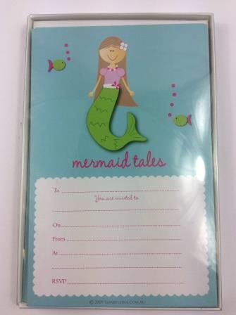 Mermaid Tales Under the Sea Birthday Party Invitations