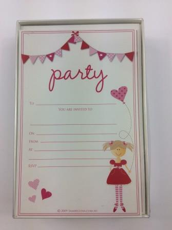 Pink Bunting Birthday Occasion Party Invitations