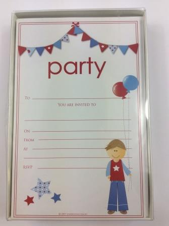 Little Man Birthday Party Invitations