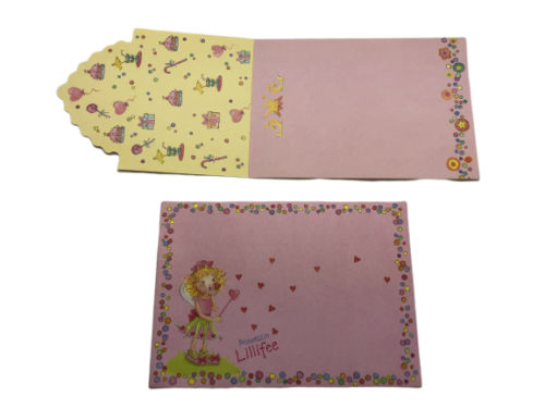 Princess Lillifee Pink party invitations