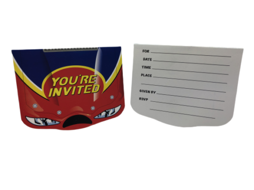 Car Racing Party Invitations