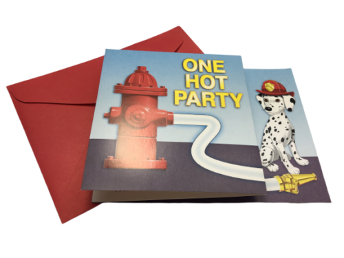 Firefighter Fire House Dalmatian Party Invitations