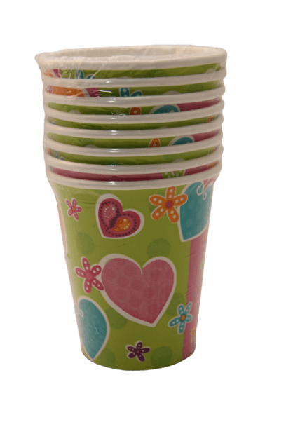 whimsical heart paper cups