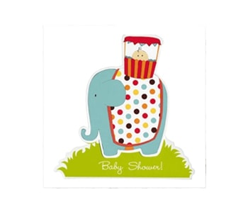 baby shower journey home elephant and baby invitations