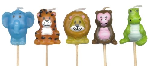 jungle animals wild one candles