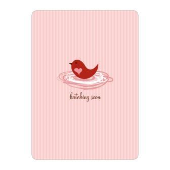 Baby shower love bird invitations