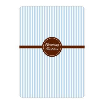 Blue Baby Boy Christening Invitations