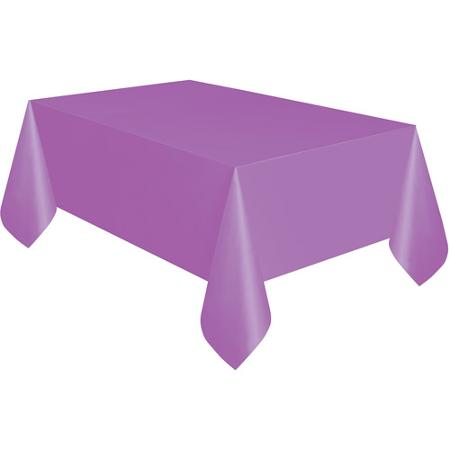 Lavender Purple Rectangle Plastic Table Cover