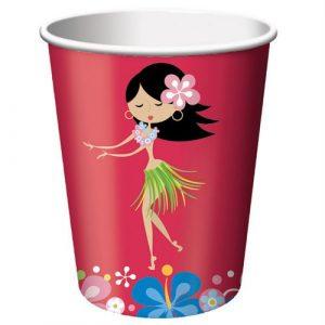Hawaiian Luau party paper cups