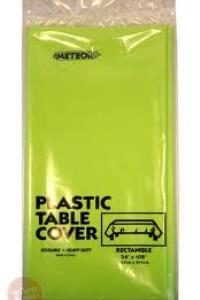 Lime Green Rectangle Plastic Table Cover