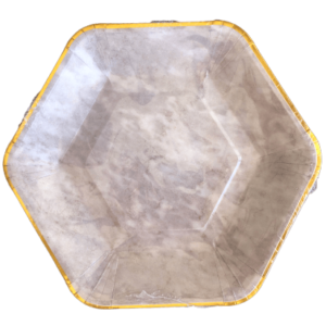 marble hexagon geometric paper plates