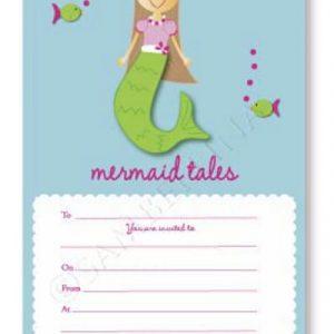 Mermaid Tales Invitations Sambellina