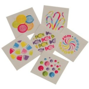 candy mini temporary tattoos