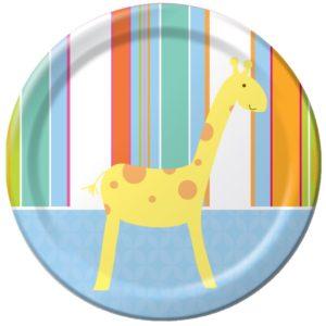 Baby Shower Zoo Animals Dessert Plates