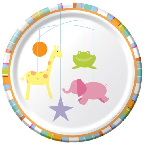 Baby Shower Zoo Animals Dinner Plates