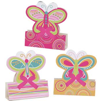 Butterfly Party Paisley Stand up Centre Pieces