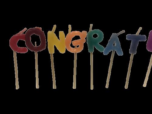 Congratulations candles