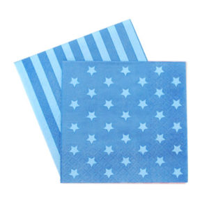Blue Star Space Napkins