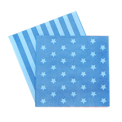Blue Star Space Napkins