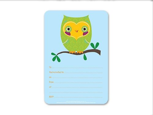 Owl Party Baby Shower Invitations