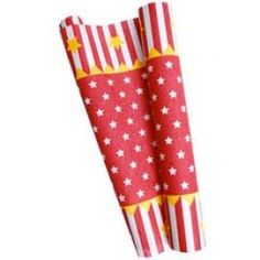 Circus Carnival Red Star table runner