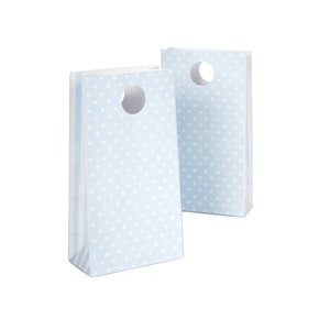 blue spotty polka dot paper party bags