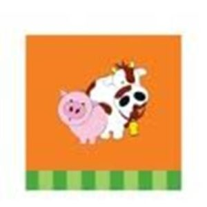 Farm house animal birthday napkins