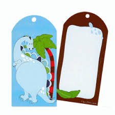 Rock Roar Dinosaur Party Bag Tags