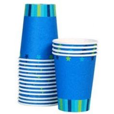 star dream baby shower paper cups