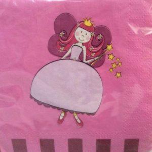 Fairy Princess pink napkins