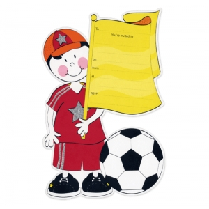 Soccer Football Birthday Party Invitations