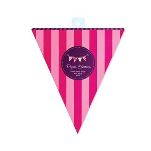 pink party flags
